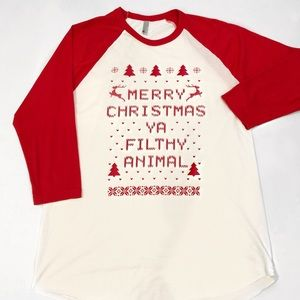 American Apparel Home Alone Shirt Merry Christmas